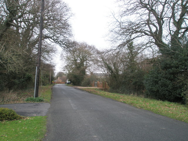 Looking northwards down Cot Lane