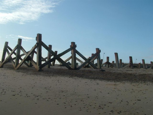 The Remains of the end part of Wellington Pier