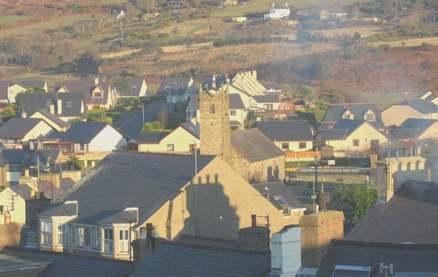 The tower of St Mary's Church from the herring watchers' tower
