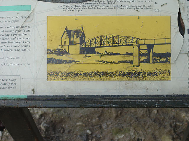 The old Gunthorpe Toll bridge