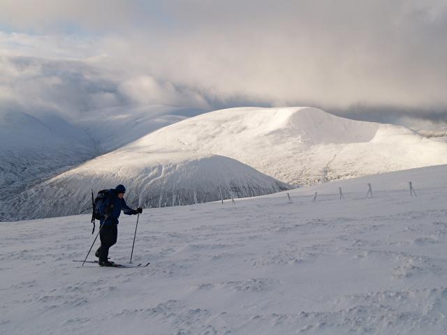 Skier, Meall a' Chaorainn