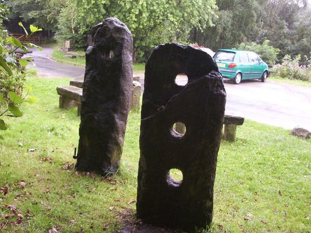 The standing stones before they were broken at Jumbles