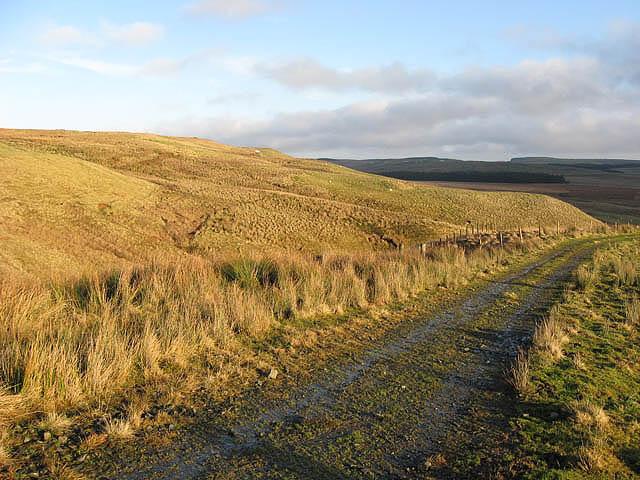 The track to Deloraineshiel