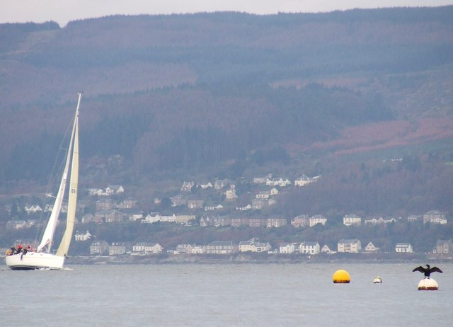 Catching the breeze off Inverkip
