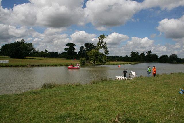 Hovercraft racing at Claydon House