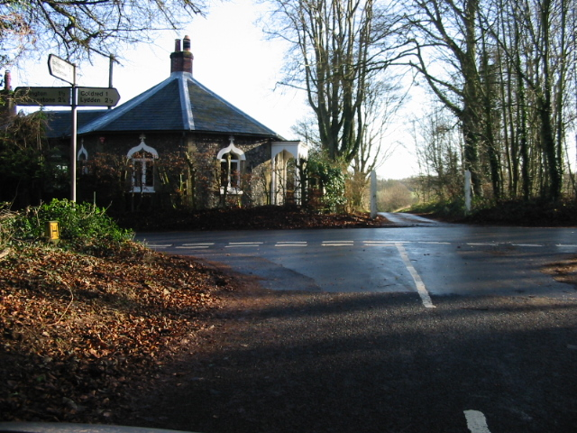 Junction of Long Lane with Coldred Road