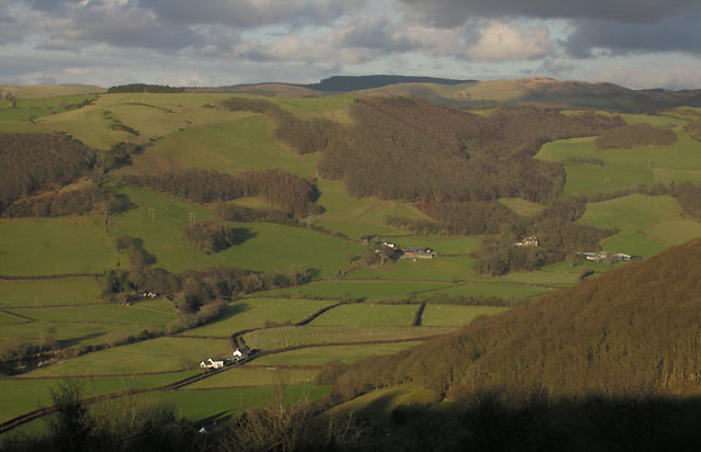 The Rheidol valley from Pisgah