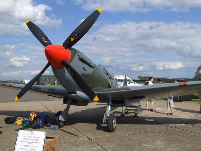 Spitfire at Duxford airfield