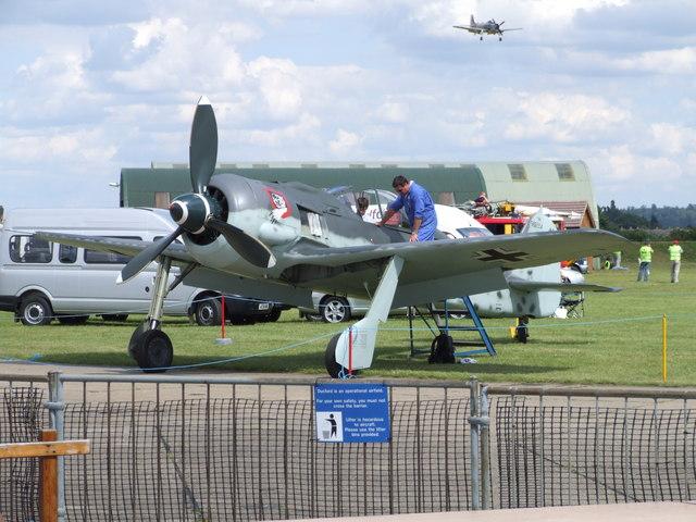 FW 190 at Duxford airfield
