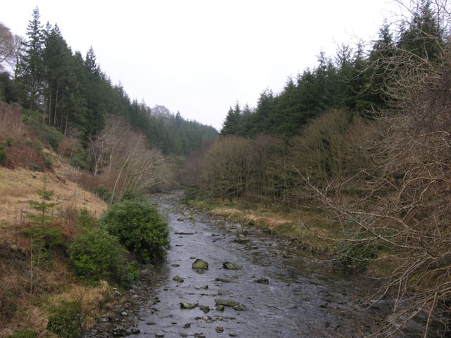 The Afon Ystwyth from the Alpine Bridge