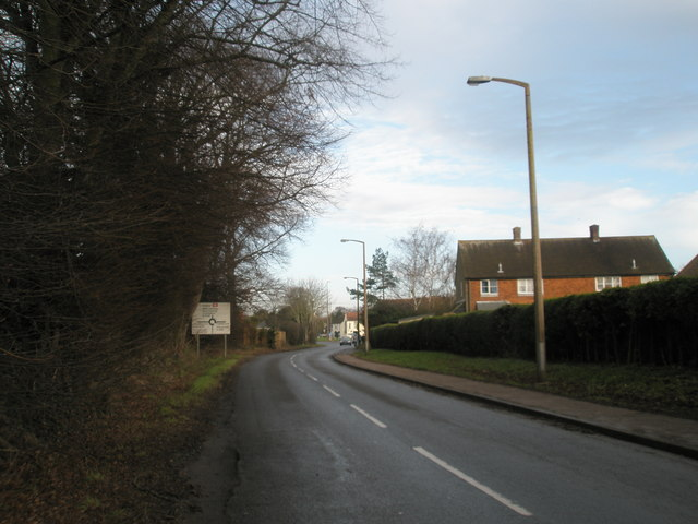 Looking north up Delling Lane
