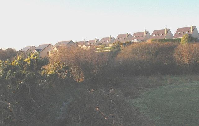 New houses on the skyline