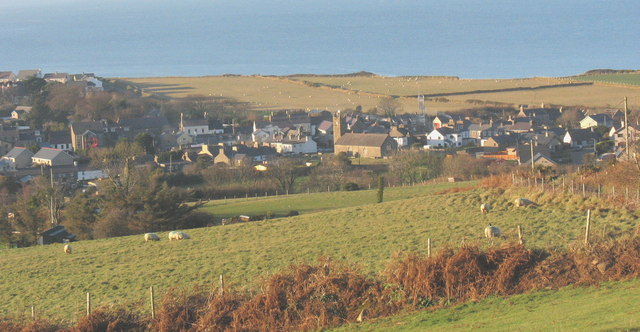 Grazing land above the eastern part of the town of Nefyn
