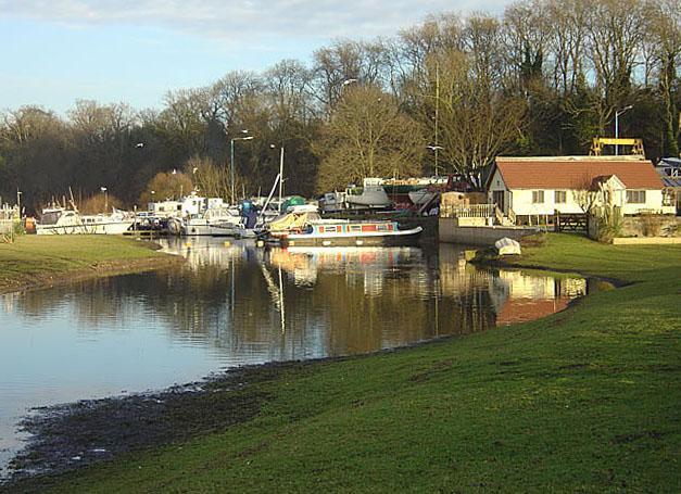 Boatyard and house near East Bridgford