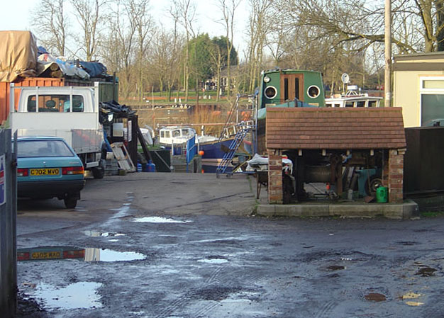 Boatyard on the River Trent