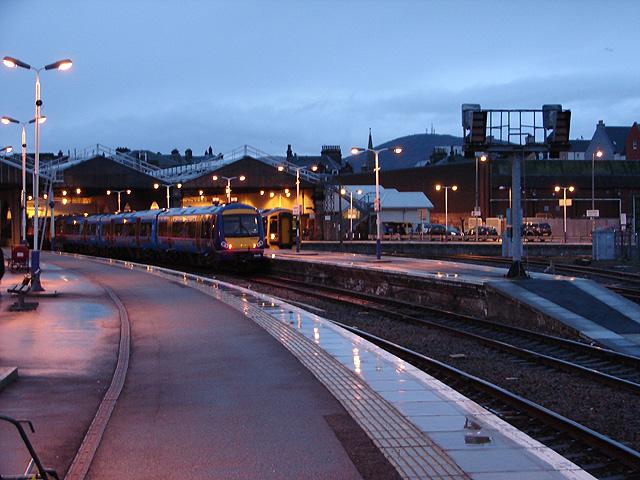 Inverness Station at dusk