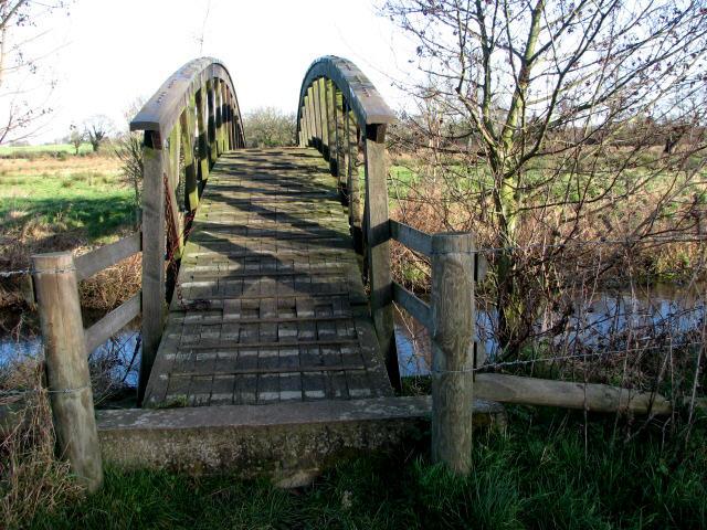 Footbridge across the River Bure