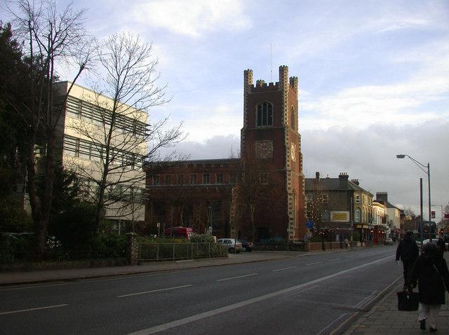 Hills Road, featuring St Paul's Church