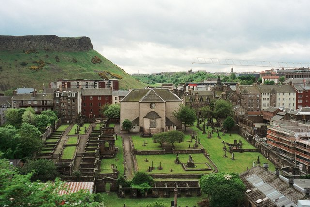 Canongate Kirk and Salisbury Crags
