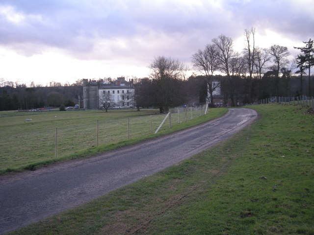 Approach to Apley Hall.