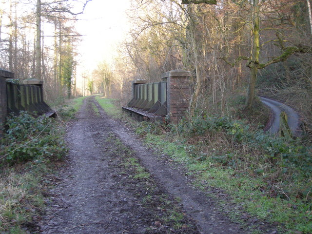 Dismantled railway line - now part of 'The Jack Mytton Way' - through Easthope Wood.