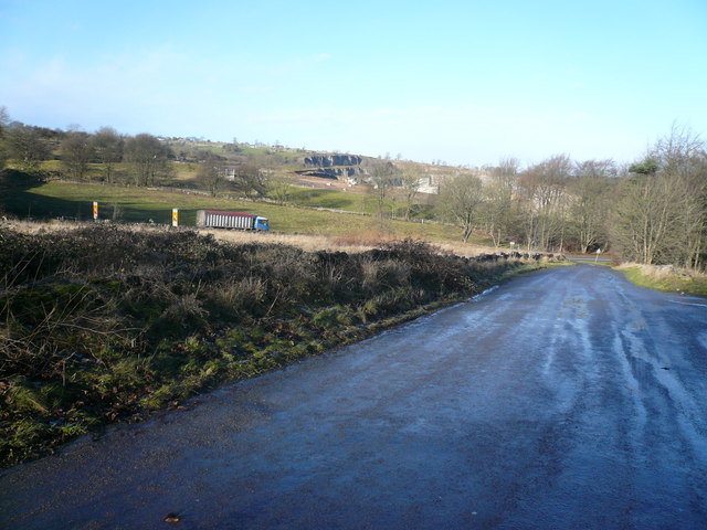 Looking Across Cromford Hill towards Quarry