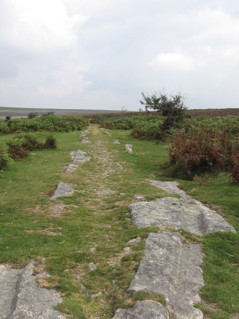 Disused Stone Tramway near Holwell Tor, Dartmoor