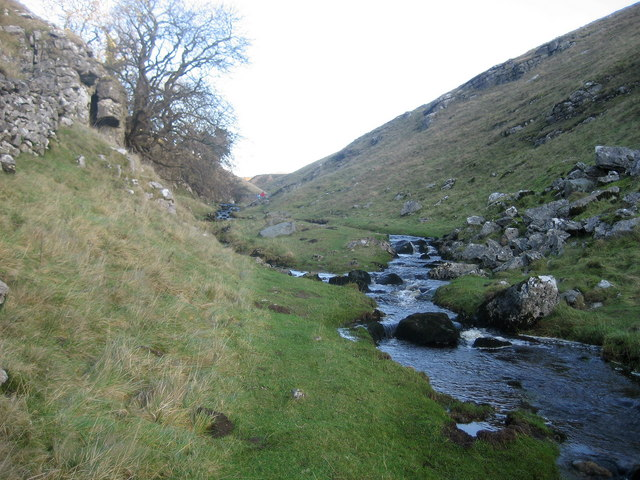 Stream above Trollers Gill
