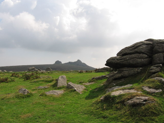 Holwell Tor with Haytor Rocks in the Background