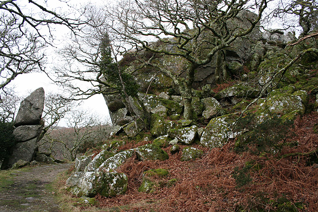 Meavy: rock outcrops at Goodameavy