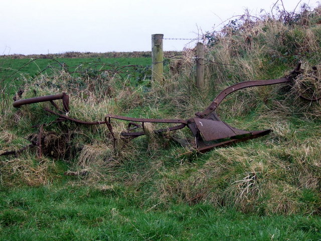 Old plough near Puncheston