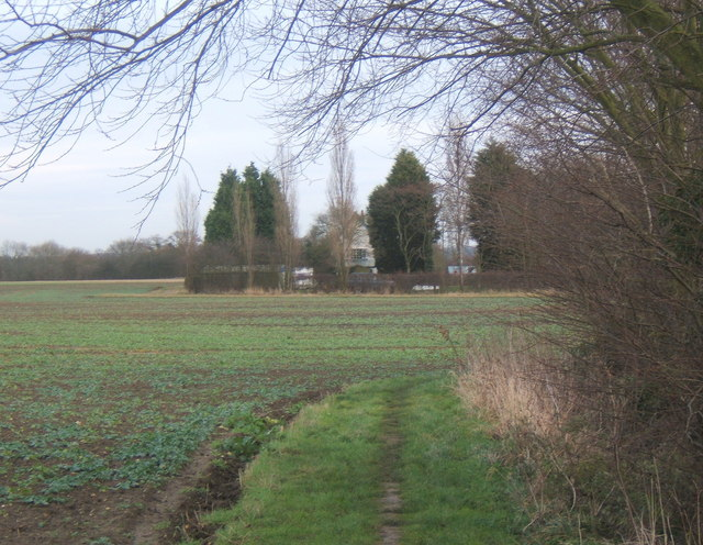 View back to Priestley from track to Tarston Hall