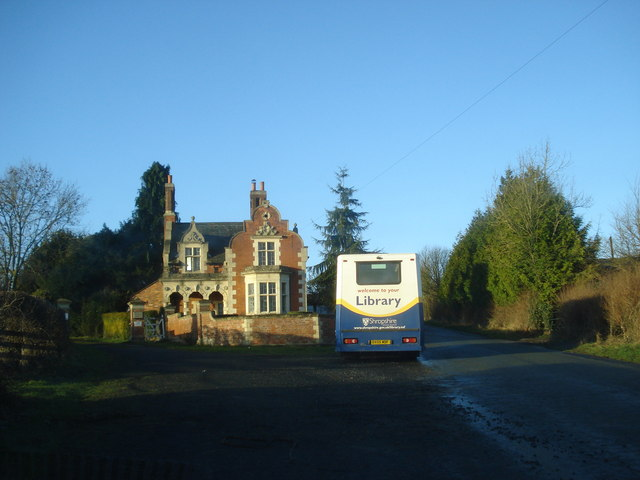 Mobile library at Ferney Hall Lodge