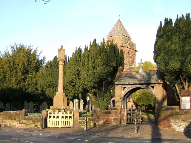 St. James' Church Christleton and War Memorial