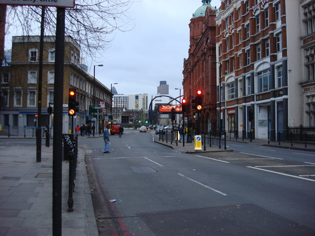 A501 City Road, looking south