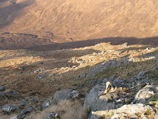 Allt a' Choire Reidh from the west ridge of Buidhe Bheinn