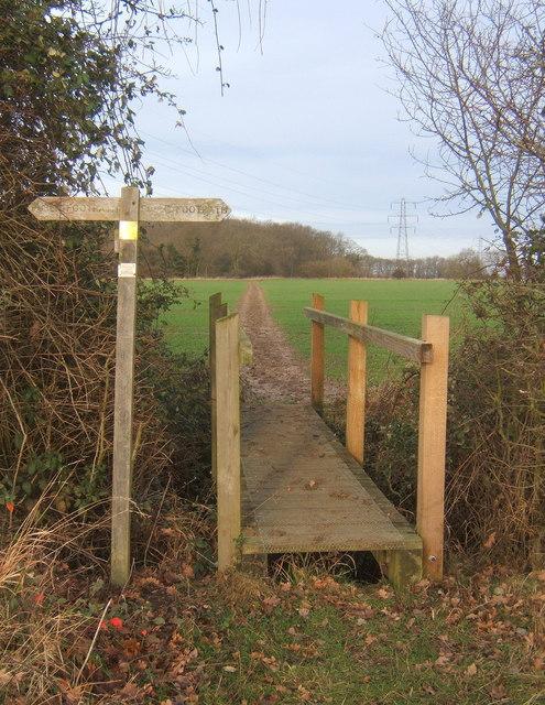 Footpath to a corner of Bonny Wood