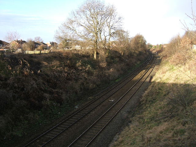 Chester to Crewe Railway Line