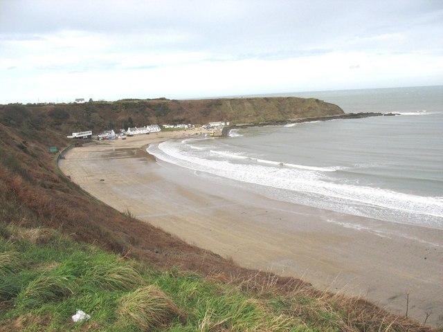 The western section of Nefyn beach