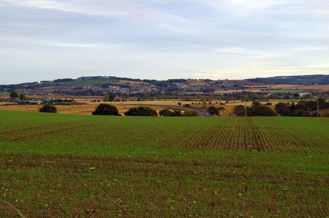 View of Forfar from Ballinshoe Road, near Kirriemuir