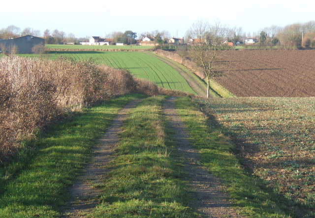 Track to Overhall Farm and Barking Tye