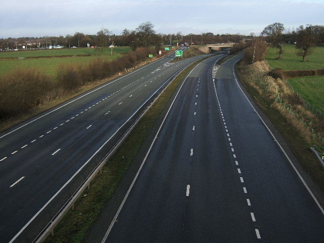 The A55, junction with the A51, Chester