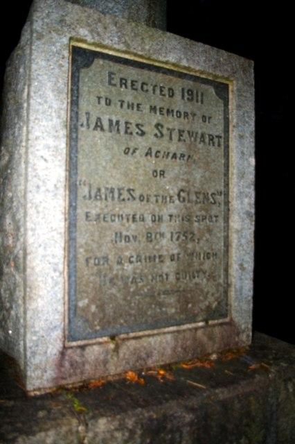 James Stewart's monument / Càrn-cuimhne Sheumais Stiùbhairt