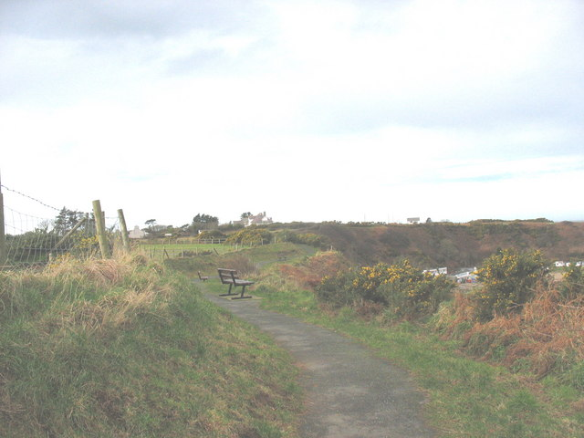 View westwards along the cliff top path