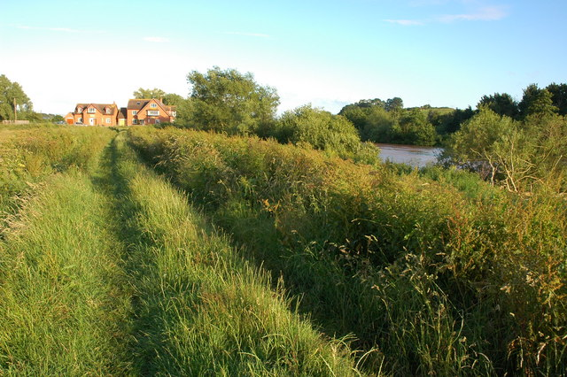 The Severn river bank at Uckinghall
