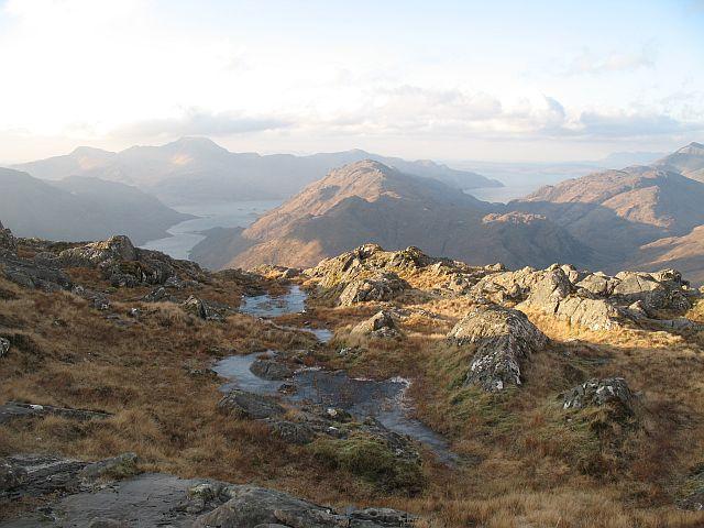 Top of the west ridge of Buidhe Bheinn