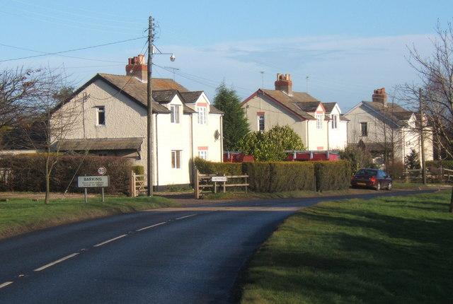 Houses beside B1078, Barking