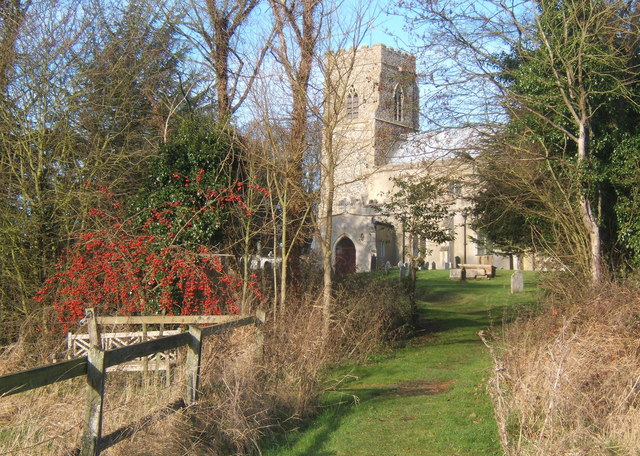 Footpath approaching Barking church