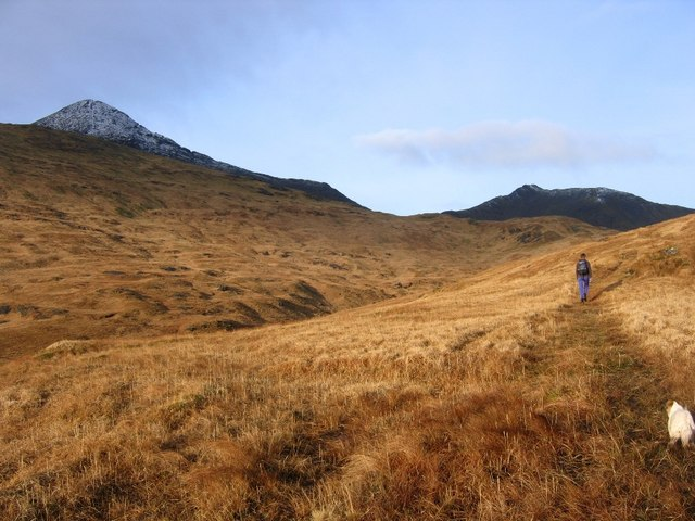 Winter sun at head of Sleibhte-Coire
