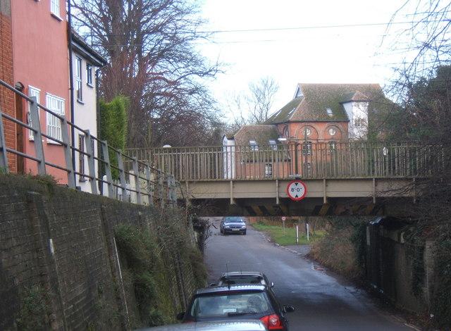 Low railway bridge, Hawks Mill Street, Needham Market